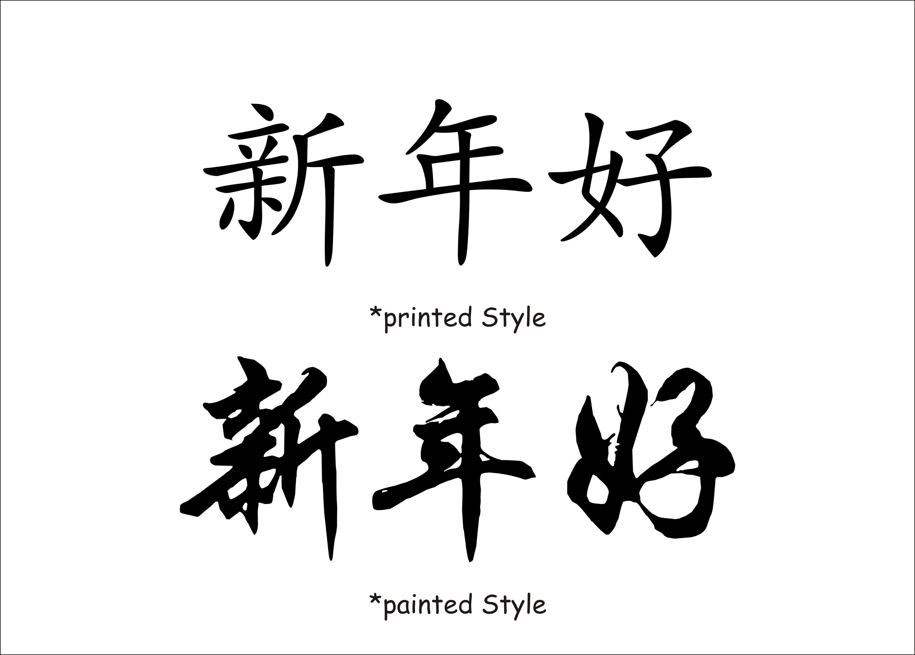 Wandtattoos4me.de - Chinesische Schriftzeichen - gutes neues Jahr